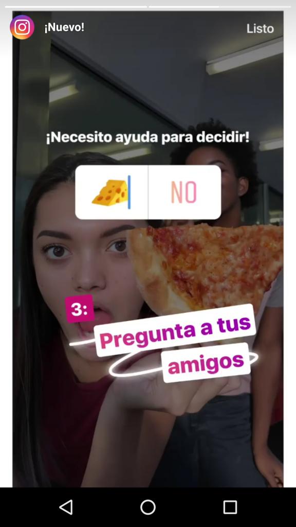 Encuesta de Instagram